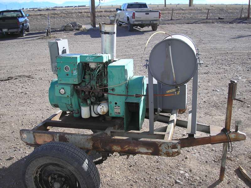 Used Onan 6.0DJB-3CR/13037AC Diesel Generator