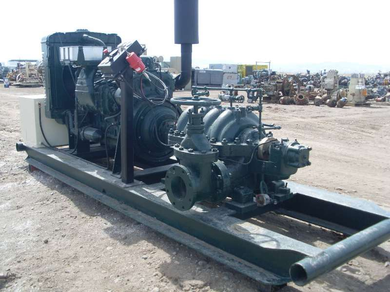 Used Goulds 3330 Horizontal Multi-Stage Centrifugal Pump Package