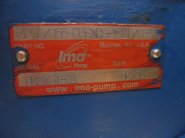 New IMO D3EXCS Rotary Screw Pump For Sale - Stock No 56642