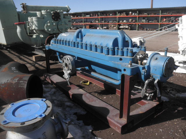 Used Ingersoll Rand 3x10da 14 Horizontal Multi Stage Centrifugal Pump Complete For Stock No 56663