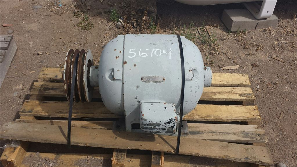 Used 15 hp horizontal electric motor general electric for Surplus electric motors sale
