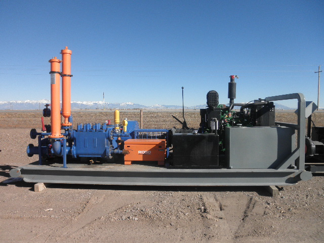 Used National JWS-165-L Triplex Pump Package