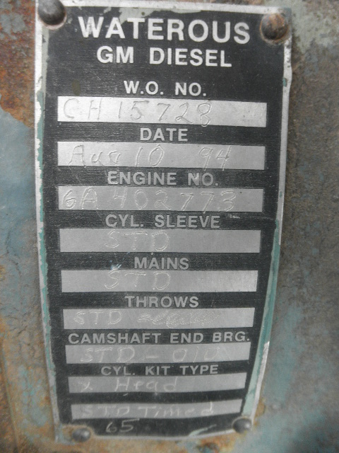 Used Detroit 6-71 Diesel Engine For Sale - Stock No 58273