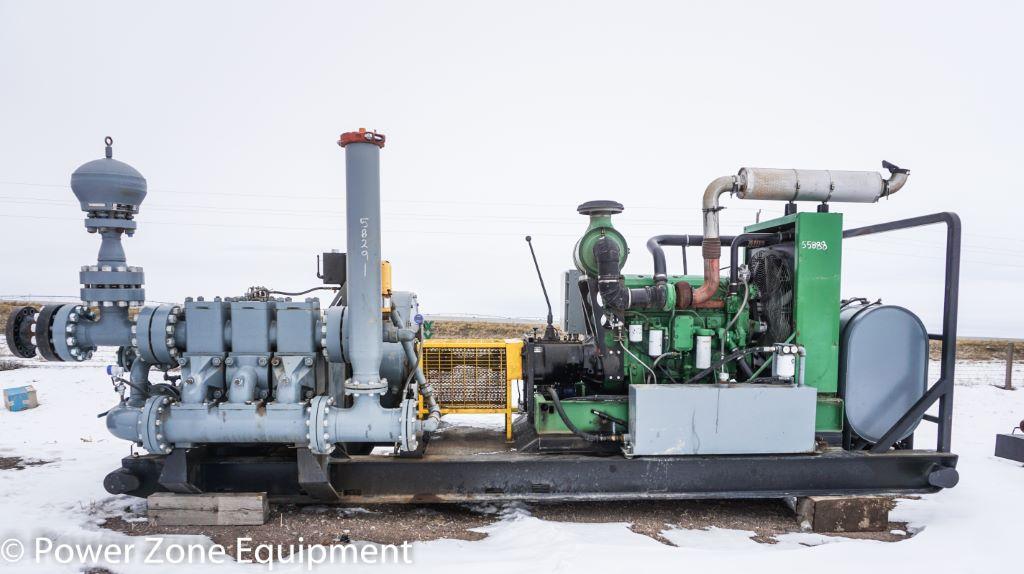 Rebuilt Oilwell A-348-5 Triplex Pump Package