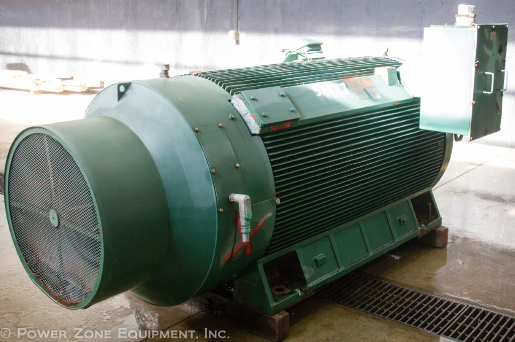 Used 1200 hp horizontal electric motor teco westinghouse for Used electric motors for sale