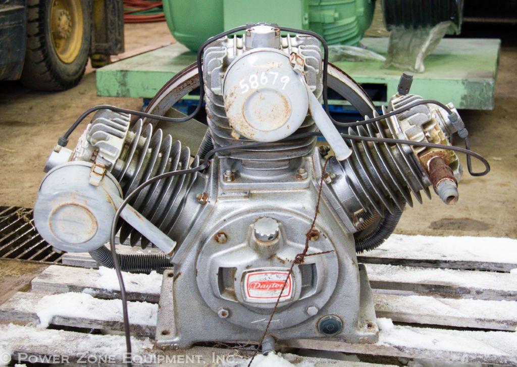 Used dayton 3z968 reciprocating compressor for sale for Dayton air compressor motor
