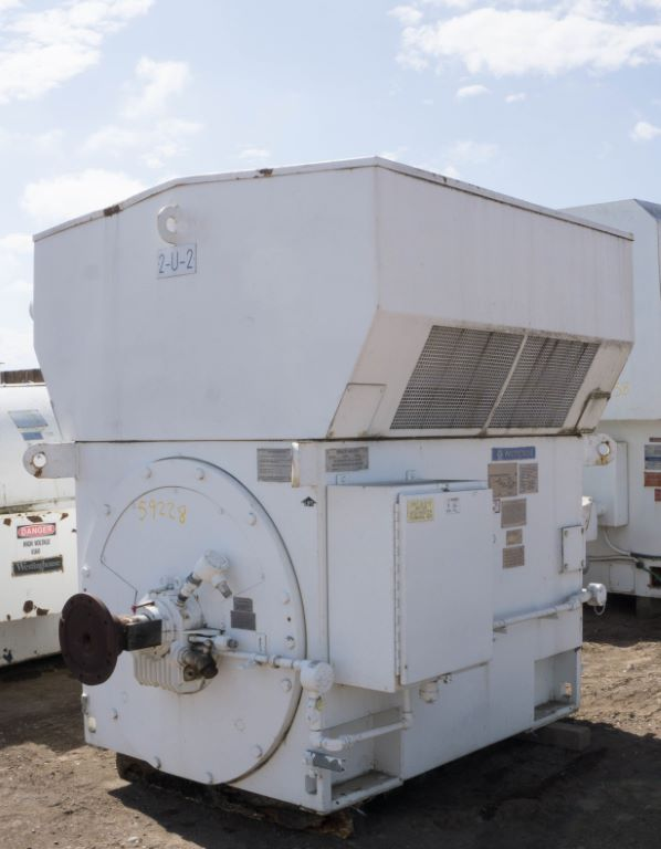 Used 3500 hp horizontal electric motor teco westinghouse for Surplus electric motors for sale