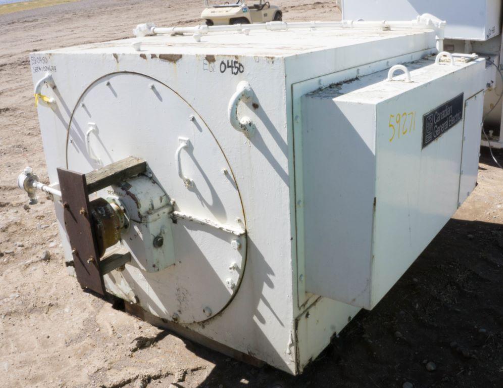 Used 1000 hp horizontal electric motor general electric for Surplus electric motors for sale