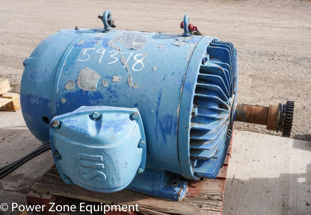 Used 300 Hp Horizontal Electric Motor Us For Stock No 59378