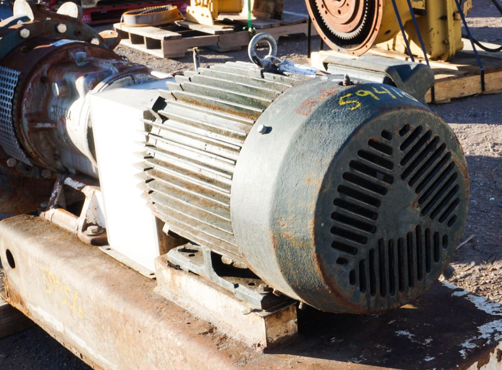 Used 30 HP Horizontal Electric Motor (Toshiba) Package For Sale - Stock No 59410