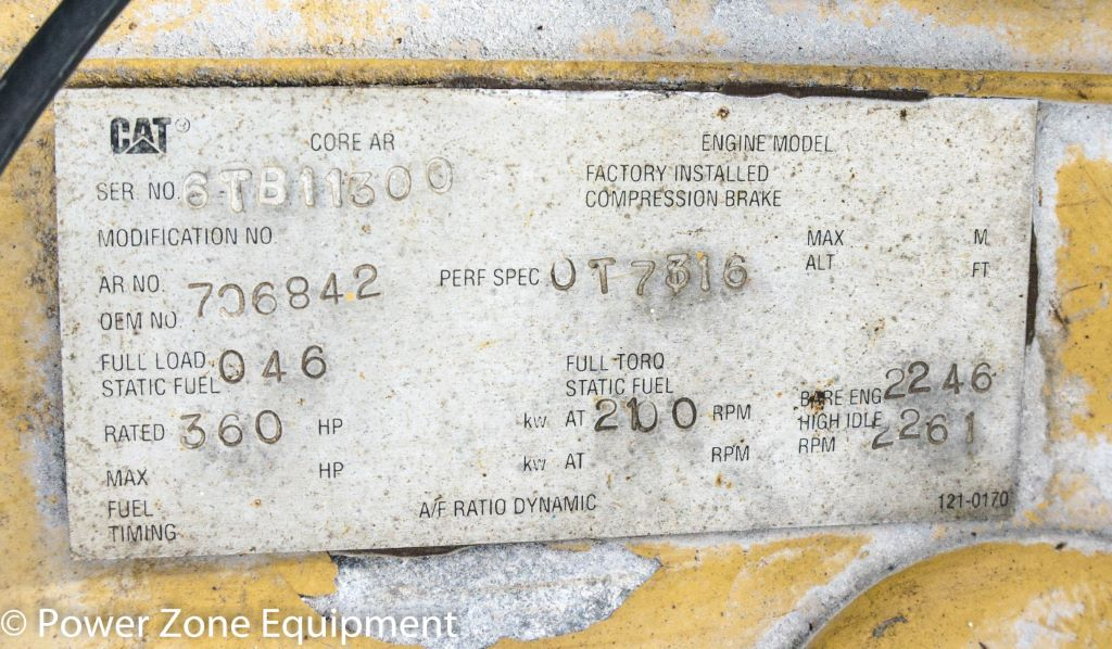 Used Caterpillar 3406 Diesel Engine Package For Sale - Stock No 59637