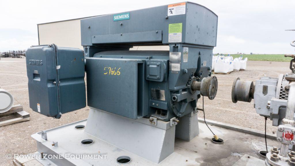 Unused Surplus 800 Hp Horizontal Electric Motor Siemens Package For Stock No 59666